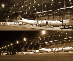 工場見学飛行機