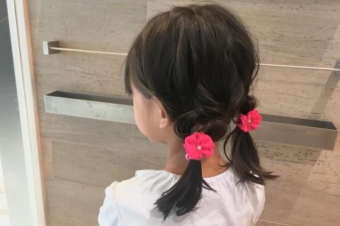 YouTubeで話題の美容師が教える!【子供ヘアアレンジ】可愛いふたつ結び