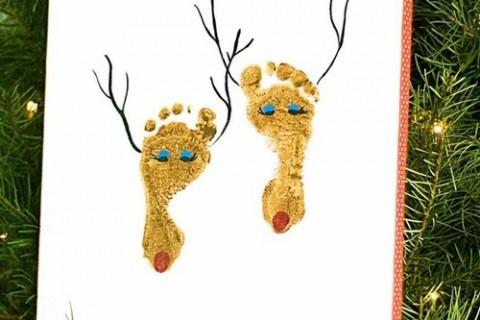 親子で楽しみながら作れる手型・足型アートでクリスマスの準備をしよう!