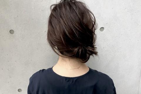 校閲ガール・石原さとみさん風ヘアアレンジ 色ピン三つ編みヘア