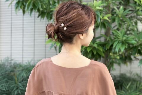 【着物・自分でできるヘアアレンジ】シニヨンヘアのまとめ髪アレンジ  ボブ編